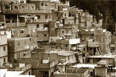 Geometry of Rio Favelas stock photo