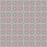 Geometry round squares seamless repeatable pattern. Royalty Free Stock Photo