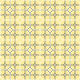 Geometry round squares seamless repeatable pattern. Royalty Free Stock Photography