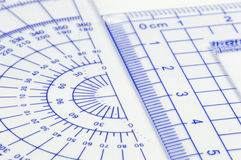 Geometry ruler Royalty Free Stock Photos