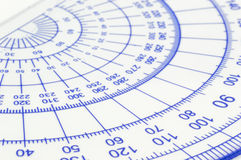 Geometry ruler Stock Image