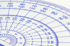Geometry ruler Royalty Free Stock Image