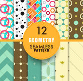 12 Geometry seamless pattern collection. seamless pattern backgr. Ound repeatable. vector stock Stock Photo