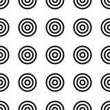 Geometry seamless pattern with concentric circles. Stock Photography