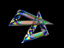 Geometry set squares, rainbow colours on black Royalty Free Stock Image