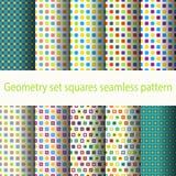 Geometry set squares seamless pattern Stock Photos