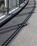 Geometry shadow in Rome near Circo Massimo Royalty Free Stock Images