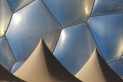 Geometry and shape. Of  building Royalty Free Stock Photo