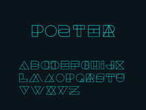 Geometry Shape form alphabet set - outlined Royalty Free Stock Images