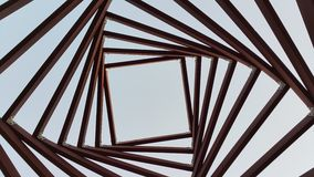 Geometry in the sky. Abstract geometry of the roof Royalty Free Stock Image