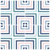 Geometry square vector pattern. ethnic seamless ornament. Abstract background - colorful lines. Geometry vector illustration. Abstract background - colorful stock illustration