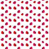 Geometry strawberry pattern Stock Photos