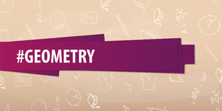 Geometry subject. Back to School background. Education banner. stock photography
