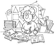Geometry teacher Stock Images