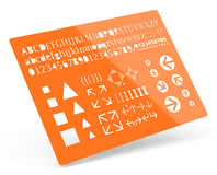 The geometry template Royalty Free Stock Photo