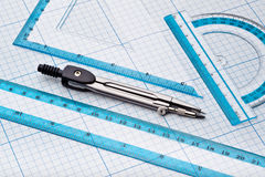 Geometry tools Royalty Free Stock Photos