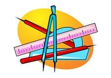 Geometry tools illustration Royalty Free Stock Photo