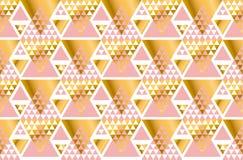 Geometry triangle pattern. Stock Photo