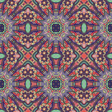 Geometry vintage floral seamless pattern Stock Image