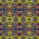 Geometry vintage floral seamless pattern, ethnic Royalty Free Stock Images