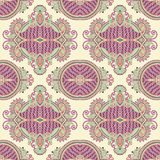 Geometry vintage floral seamless pattern Stock Photos