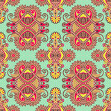 Geometry vintage floral seamless pattern Royalty Free Stock Photo