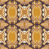 Geometry vintage floral seamless pattern Royalty Free Stock Image