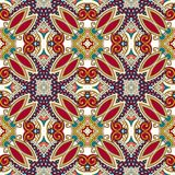 Geometry vintage floral seamless pattern Royalty Free Stock Photos