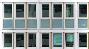 Geometry of windows. Of a modern building fassade Stock Photos