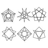 Geometryc样式象商标集合 免版税库存图片