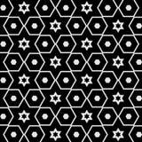 Geometryczna bezszwowa deseniowa mozaiki gwiazda, wielobok w czerni i Zdjęcie Royalty Free