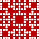 Geometryczna bezszwowa granica opierająca się na kwadratowym wzorze, wektorowa ilustracja Fotografia Royalty Free