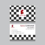 Geometryczna biznesowa imię karta Fotografia Royalty Free