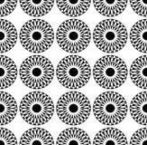 Geometryczna czarny i biały moda projekta druku słońca mandala wzoru tekstura ilustracja wektor