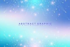 Geometryczna graficzna tło molekuła, komunikacja i Duży dane kompleks z mieszankami Perspektywiczny tło minimalizm Zdjęcie Royalty Free