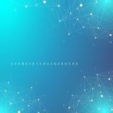 Geometryczna graficzna tło molekuła, komunikacja i Duży dane kompleks z mieszankami Perspektywiczny tło minimalizm Obrazy Royalty Free