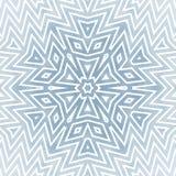 Geometryczna gwiazda lub płatek śniegu Zdjęcie Royalty Free