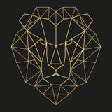Geometryczna lew głowa Zdjęcia Royalty Free