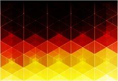Geometryczna poligonalna stylowa wektor flaga Niemcy ilustracji