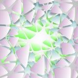 Geometryczna postać sześcian zrobi up segmenty w Voronoi stylu ilustracja ilustracja 3 d Zdjęcia Royalty Free
