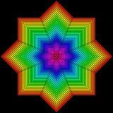 Geometryczna postać w postaci kwiatu na czerni ilustracja wektor