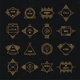 Geometryczna rocznik etykietka Fotografia Royalty Free