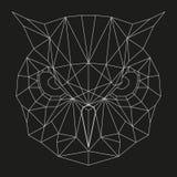 Geometryczna sowy głowa Zdjęcia Royalty Free