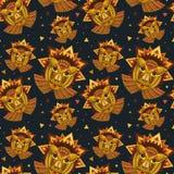 Geometryczna twarz lew budowa od okregów, trójboków i inny, Fotografia Stock