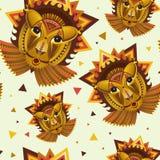 Geometryczna twarz lew builded od okregów, trójboków i inny, Fotografia Stock