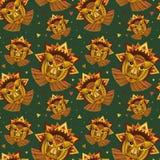 Geometryczna twarz okręgi, trójboki i inny lwa, Obrazy Royalty Free