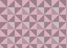 Geometryczna wektorowa tekstura z różowymi i jaskrawymi trójbokami ilustracja wektor