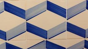 Geometryczne błękit płytki zdjęcia stock