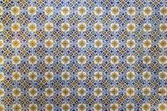 Geometryczne mozaik płytki na ścianie jako tło Obrazy Stock