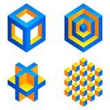 Geometryczne postacie. Obraz Stock